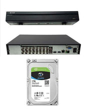Load image into Gallery viewer, 16 Channel XVR 2MB 1080 IP DVR CVI TVI AHD Recorder CCTV 1TB OEM Dahua