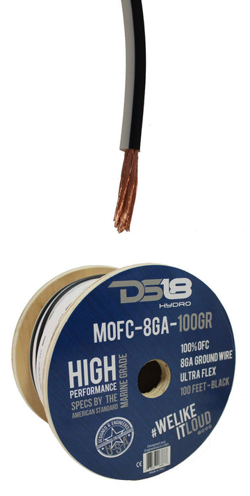 10ft DS18 Marine-Grade OFC Copper Ground Wire Cable Battery True GA
