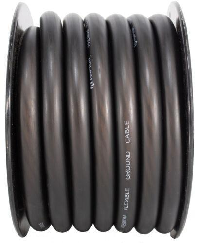 50 Ft 1/0 Awg True Ga Power Ground Wire Red Black Metra Ofc Copper & Speaker
