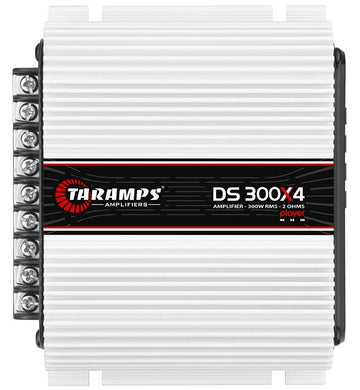 Taramps 300W 2 Ohm 4 Channel Full Range Class D Amplifier with Player DS300X4
