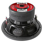 Dual 4 Ohm Voice Coil 12 Subwoofer 2000 Watts Bass Genius Audio N9-12D4 Consumer Electronics >