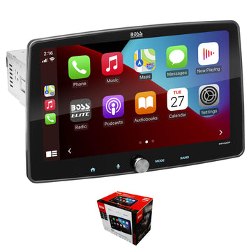 "BOSS 10.1"" 1 DIN Touchscreen Radio with Apple CarPlay, Bluetooth & Android Auto BE10ACP"