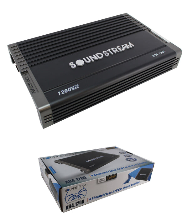 Ar4-1200 4 Ch 1200W Class A/b Full Range Bass Amplifier 2 Ohm Stable Consumer Electronics > Vehicle