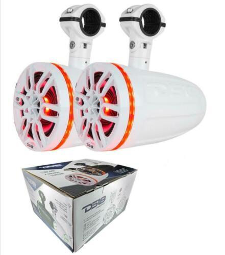 Pair Of Ds18 Nxl8Tpwneo Hydro 8 Wake Board Tower Speaker Rgb Led Atv Side By Marine Audio