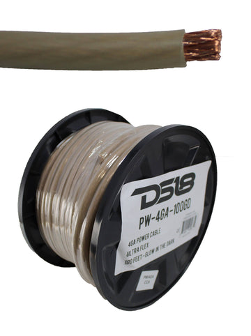 50 FT 4 AWG DS18 Power Ground Wire Glow In The Dark Ultra Flex Copper Mix