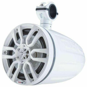 "NXL6TPWNEO WHITE 6.5"" MARINE POD SPEAKERS + NXL200.2D 600W WATERPROOF AMP"