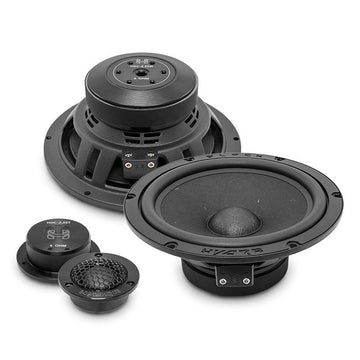 "Deaf Bonce Black Hydra HDC-2.25 6.5"" 270W 4 Ohm 2-Way Component Speaker System"