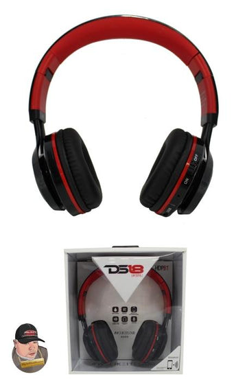 DS18 HDPBT Noise Isolating Over Ear Foldable Bluetooth Headphone with Mic and FM Radio