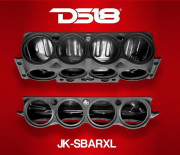 DS18 Black Overhead Sound Bar Empty Enclosure for Jeep Wrangler 07-17 JK-SBARXL