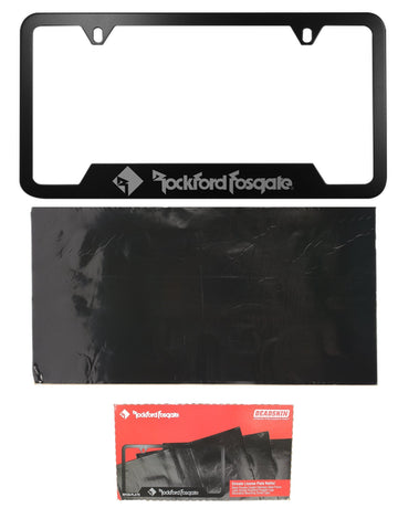 Rockford Fosgate Sound Deadening License Plate Kit RFDS-PLATE