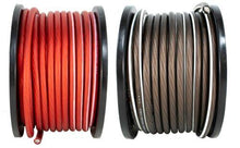 Load image into Gallery viewer, 4 AWG 100FT Red + 100FT Black Power Ground Wire DS18 Cable Copper Mix True GA