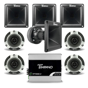 Timpano 1880W Combo 800.4 Amplifier + 2 Pairs Tweeters + 4x DH175 Horns