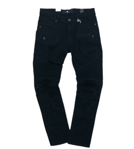 Focus Denim Biker Jeans w/ Fur Key-chain