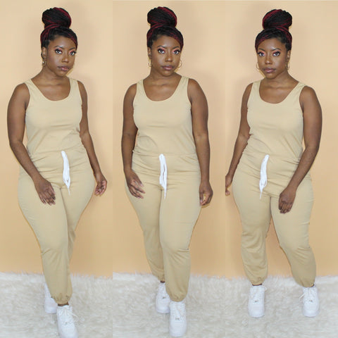 Pretty Basic Jumpsuit(Khaki)