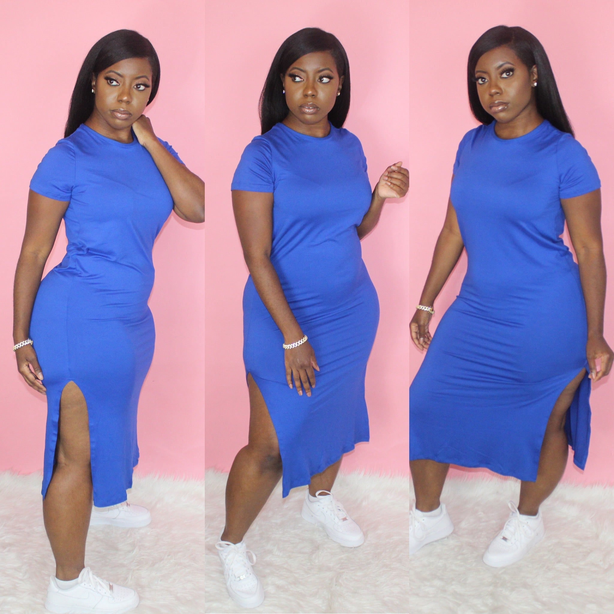 Pretty Basic Dress(Royal)
