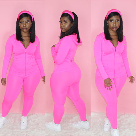 Lounging Set (Neon Fuchsia)