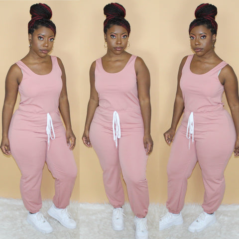 Pretty Basic Jumpsuit(Mauve)