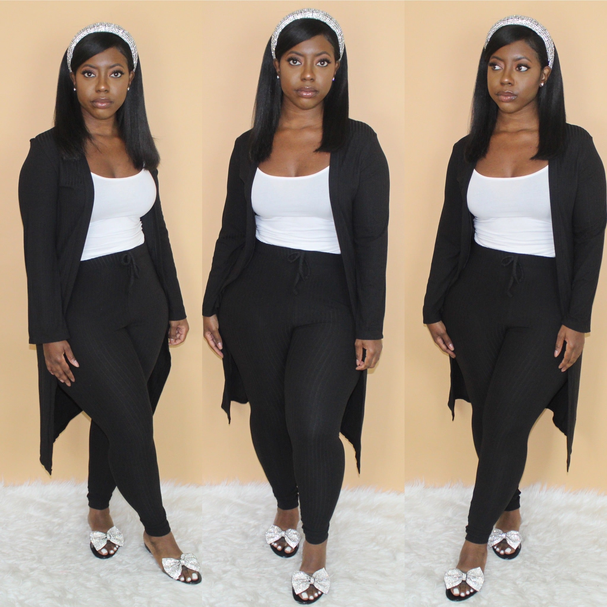 Cardigan Set(Black)