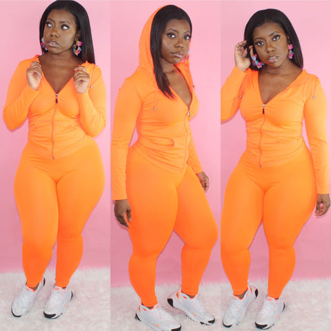 Lounging Set (Neon Orange)