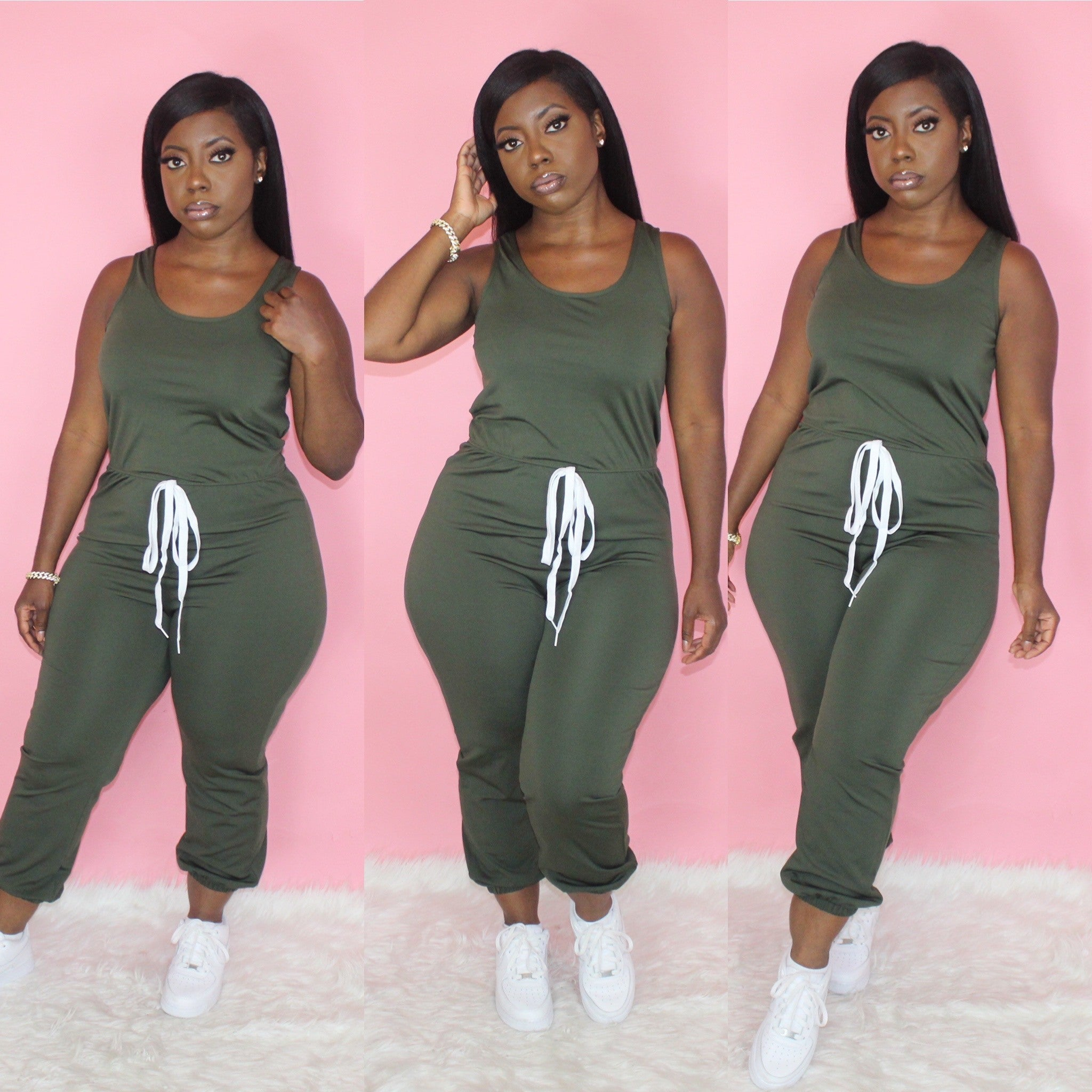 Pretty Basic Jumpsuit(Olive)