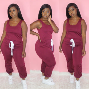 Pretty Basic Jumpsuit(Burgundy)