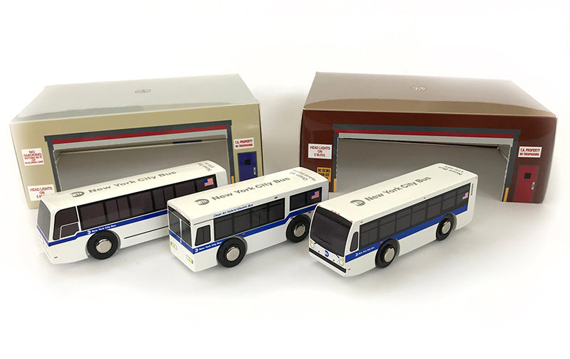 NYC Buses 3-Piece Set