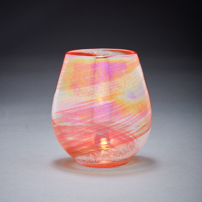 Memorial Glass Art: afternoon sunset ash infused votive