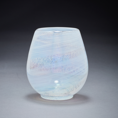 Memorial Glass Art: alabaster pearl ash infused votive