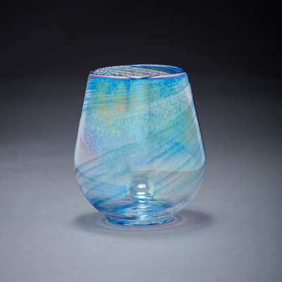 Memorial Glass Art: island breeze ash infused votive