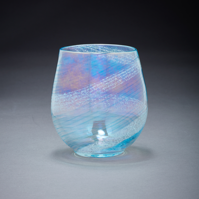 Memorial Glass Art: ash infused votive