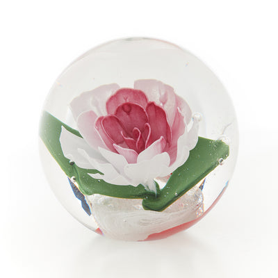 Memorial Glass Art: ash infused rose globe