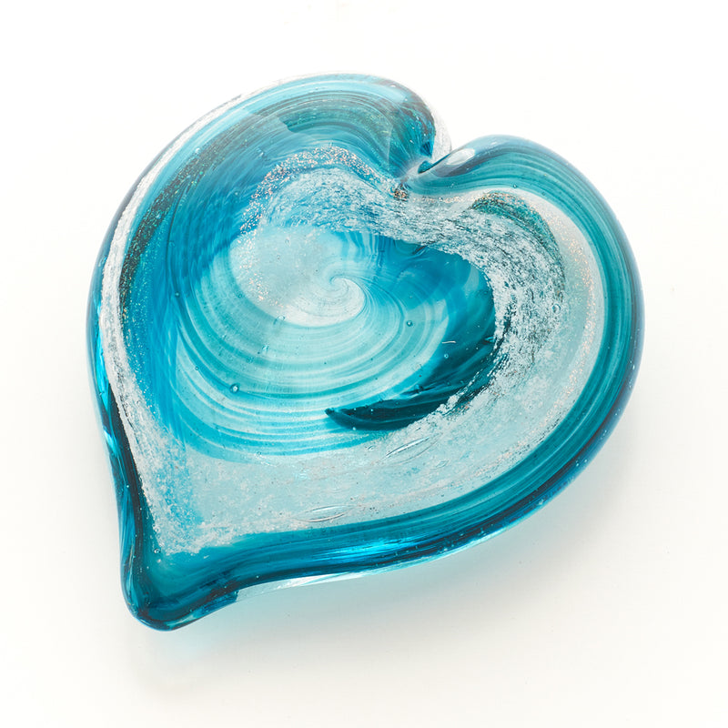 Memorial Glass Art: ash infused heart