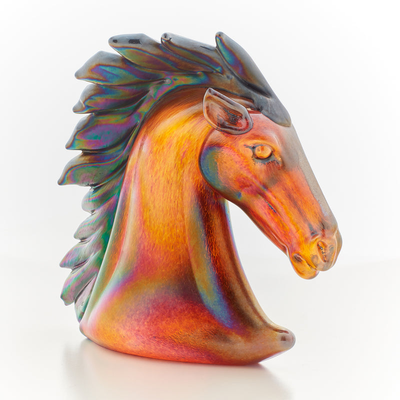 Memorial Glass Art: ash infused horse sculpture