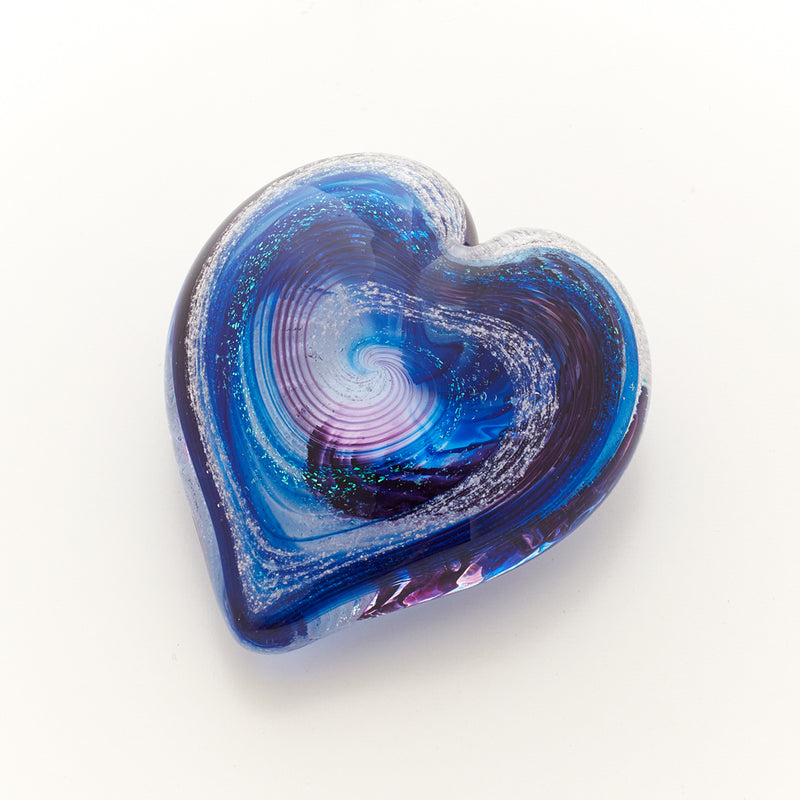 Memorial Glass Art: ash infused small classic heart