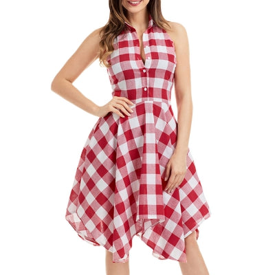 Sleeveless Handkerchief Shirt Dress - Marra's Dream
