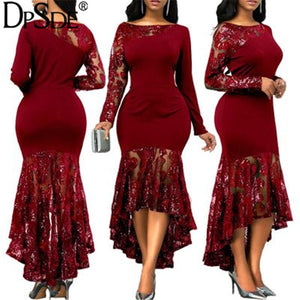 Robe élégante ,collection 2020 Robe en dentelle bordeaux pour touts occasions - Marra's Dream