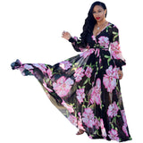 Fashion  Maxi print dress long. - Marra's Dream
