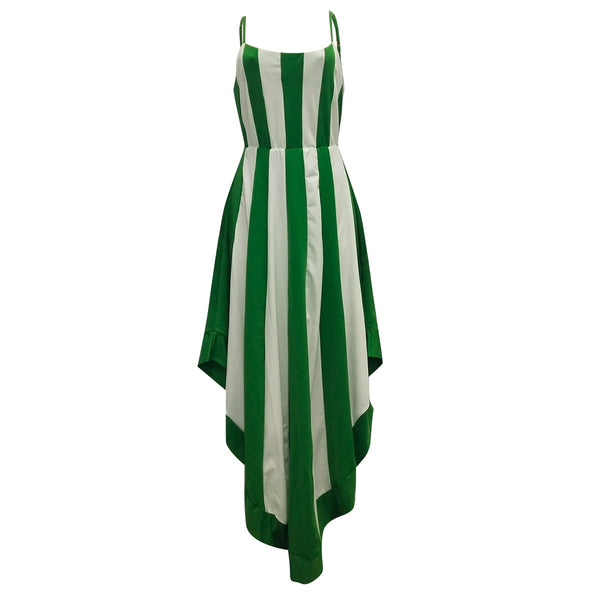 Striped Print Summer Irregular Sundress  Boho Beach NO BELT - Marra's Dream