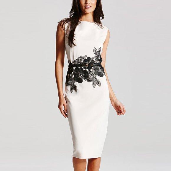 High end floral latest office women career dress - Marra's Dream