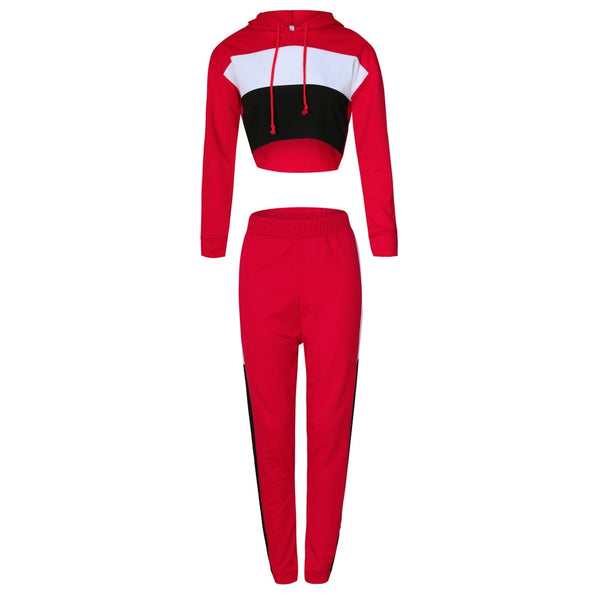 Hodisytian Ins Fashion Women Tracksuit Hooded  Tunic+Pants