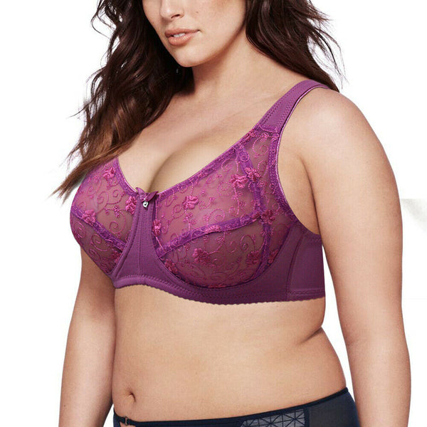 Embroidery Large Size  Bras For Women - Marras Dream