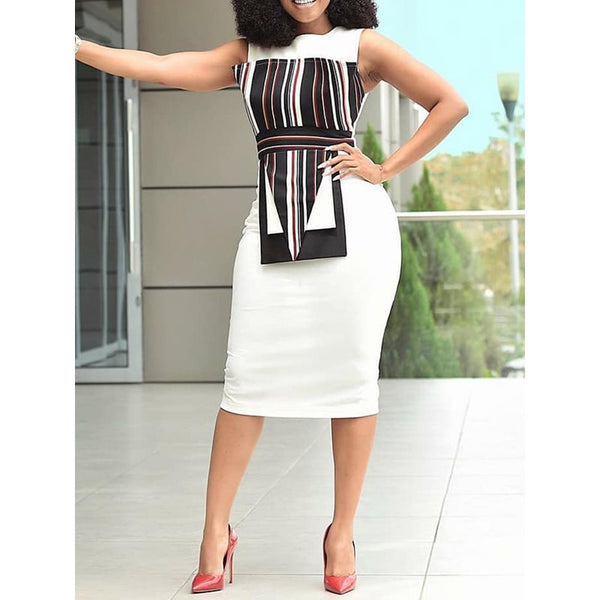 Bodycon Dress Women White Elegant - Marra's Dream