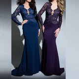 Women Purple Formal Evening Dress Formal Wedding Dresses - Marras Dream