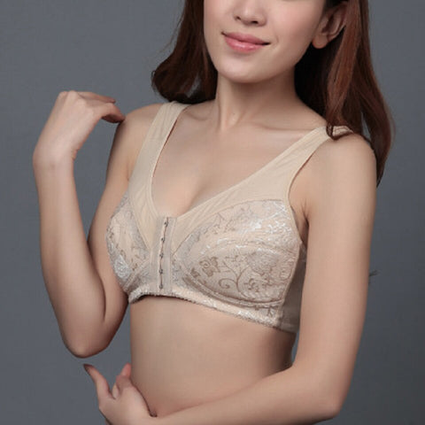 Women sexy front closure bra comfortable