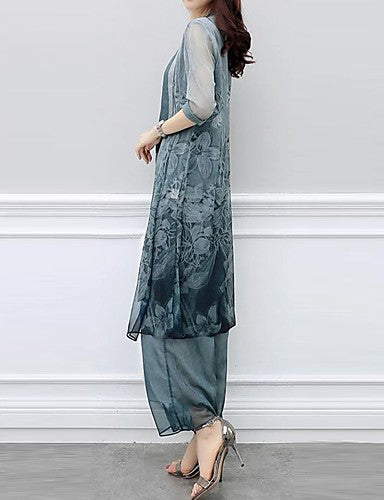 Women's Chinoiserie Loose Long Set - Marra's Dream