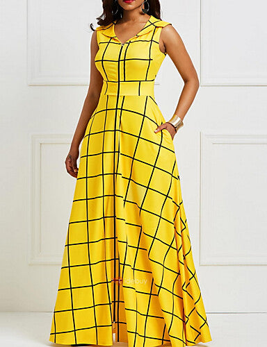Women's Swing Dress Yellow