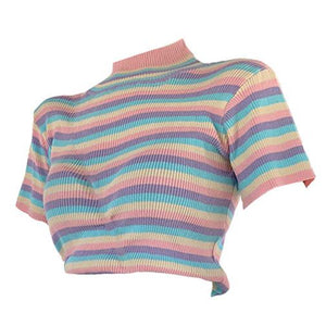 Pastel Sweetz Ribbed Top - Marra's Dream
