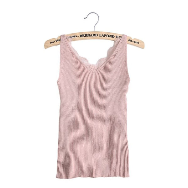 Sexy Women Plain Camisole Double V-neck - Marra's Dream