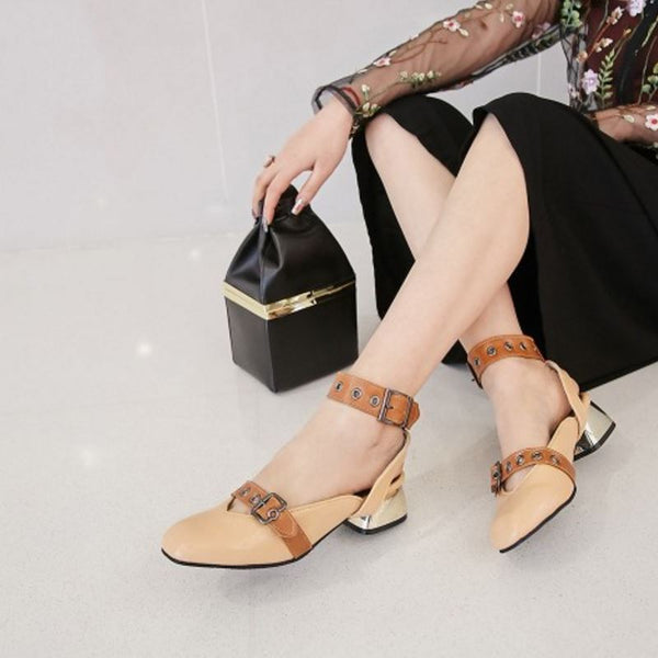 Vintage Women High Heel Shoes Woman