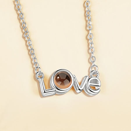 Rose Gold Silver 100 Language I love You Necklace - Marras Dream